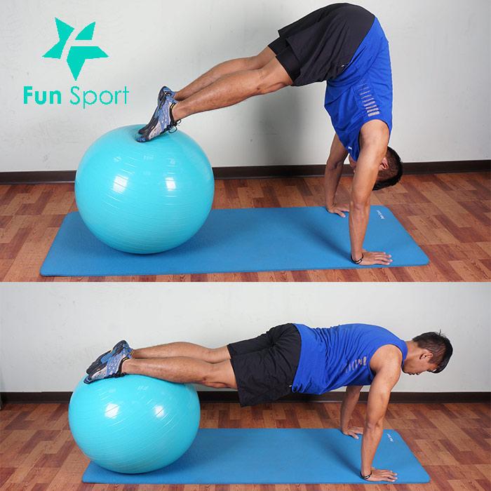 抗力球-腹肌運動-5:屈體