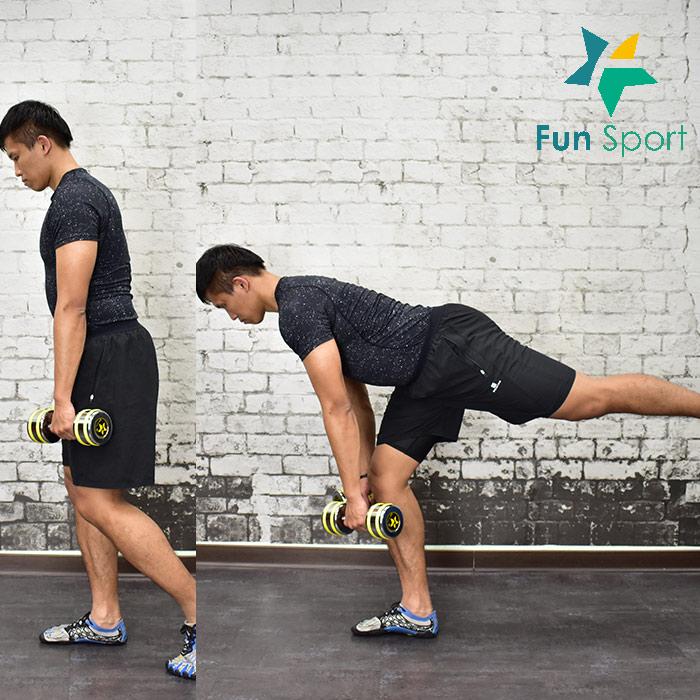 練大腿 --啞鈴運動