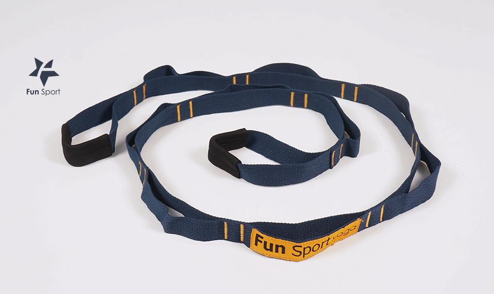 跑步後用環節式助展帶伸展的使用方式
