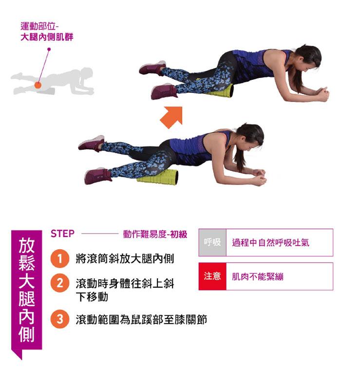 大腿內側肌群滾筒按摩