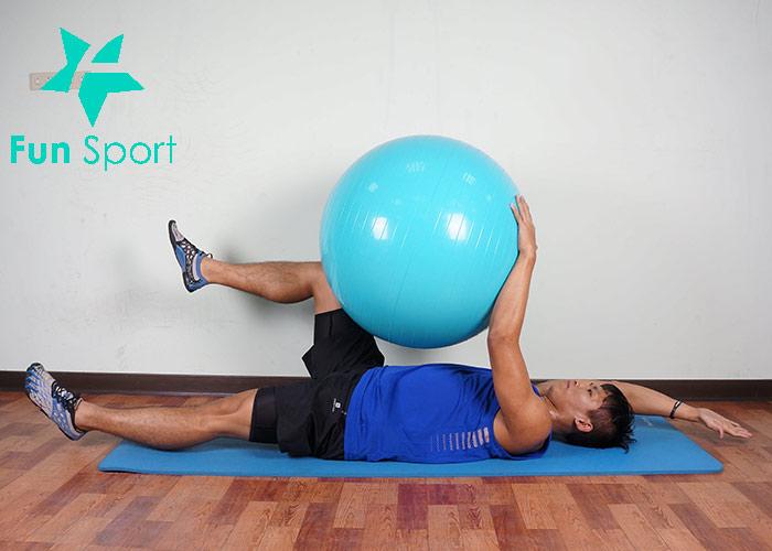 抗力球-腹肌運動-2:死蟲式