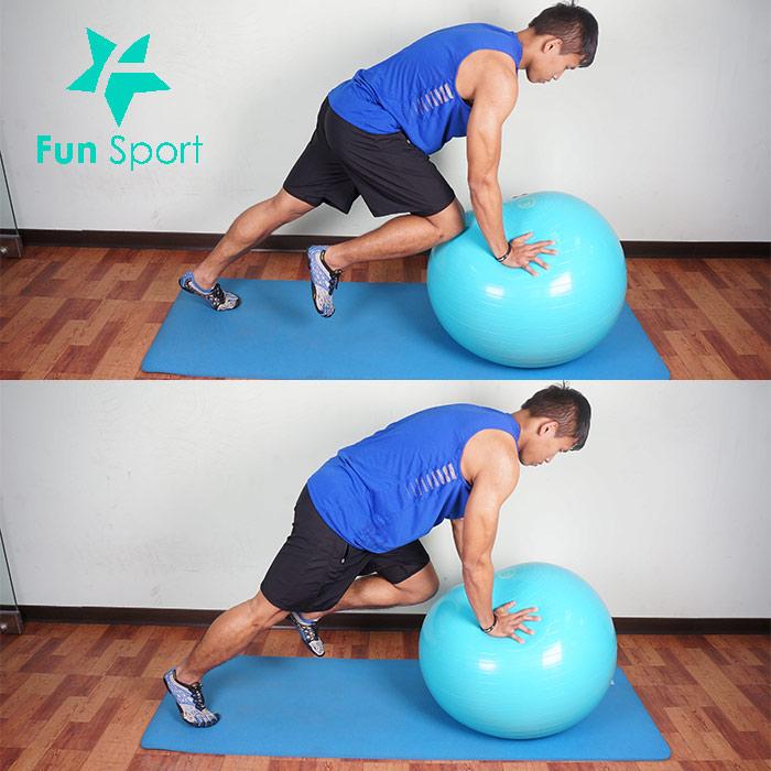 抗力球-腹肌運動