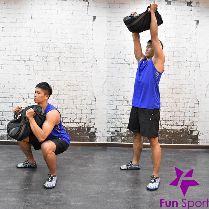 不穩定訓練效益(負重袋重壓袋應用)-深蹲