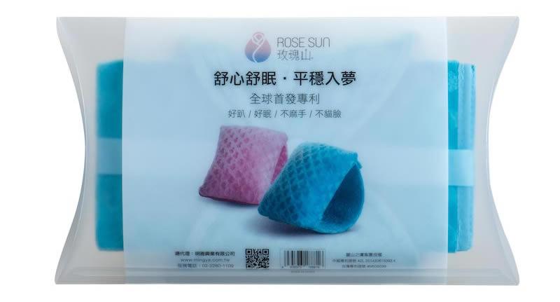 玫瑰山3D健康隨身枕 包裝背面