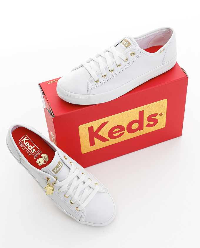 Keds 2018狗年限定款小白鞋!超有质感的皮质小白绝对值得入脚!