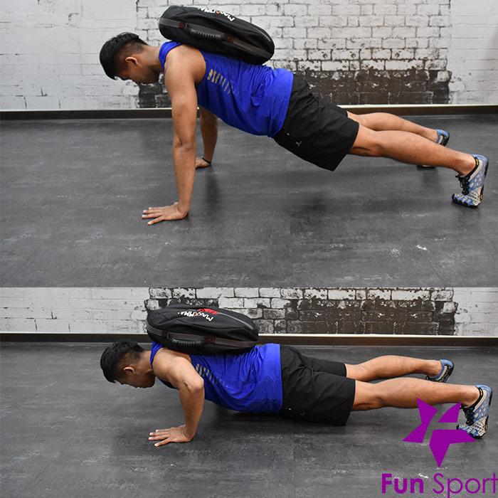 不穩定訓練效益(負重袋重壓袋應用)-伏地挺身