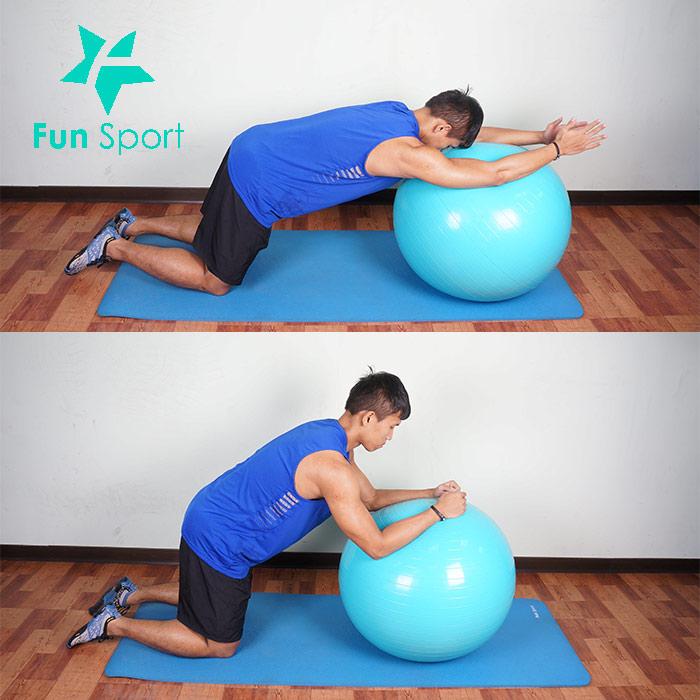 抗力球-腹肌運動-6:前推伸展