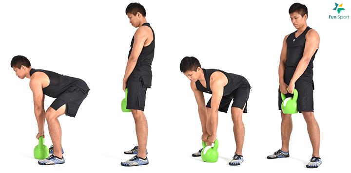 ※ 小叮嚀:膝蓋微彎保持彈性,身體前傾的程度取決於髖部的活動度。