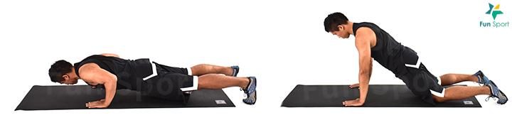 ※ 簡易版本:一開始撐不起來可以先從跪姿開始。
