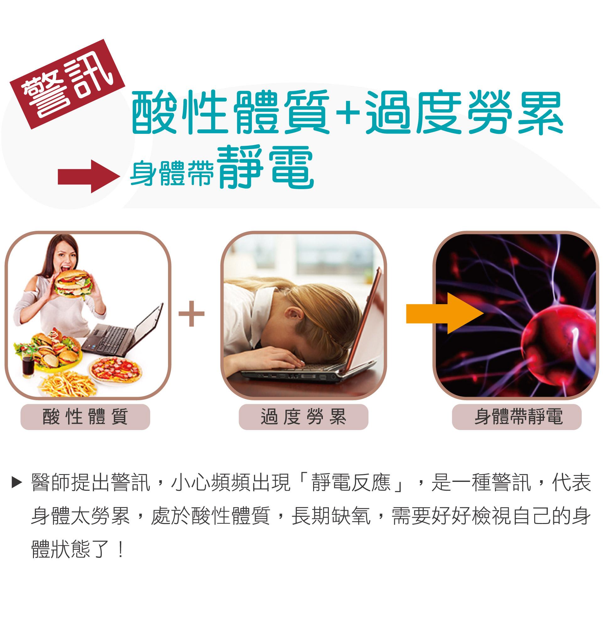 警訊:酸性體質+過度勞累→身體帶靜電