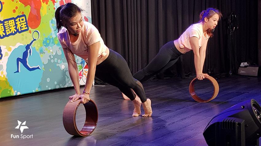 依芙特-雲彩專業瑜珈輪-FunSport fit-( Yoga Wheel/瑜伽輪 /Yoga Wheel Exercises)