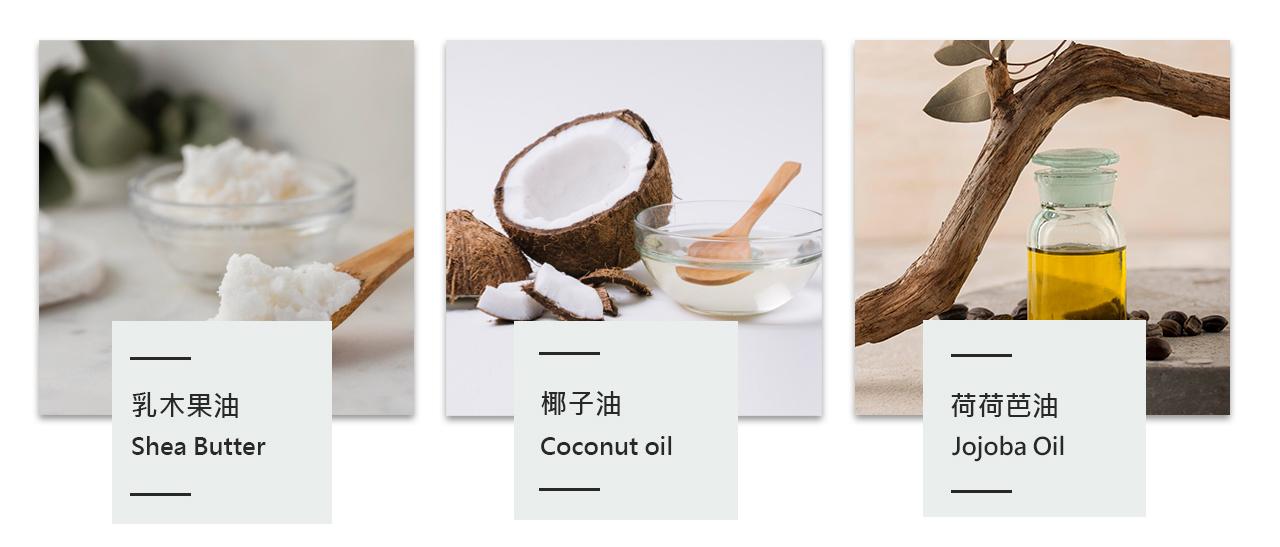 乳木果油,椰子油,荷荷芭油,成分,成份,介紹,分析,簡介,皮膚,好處
