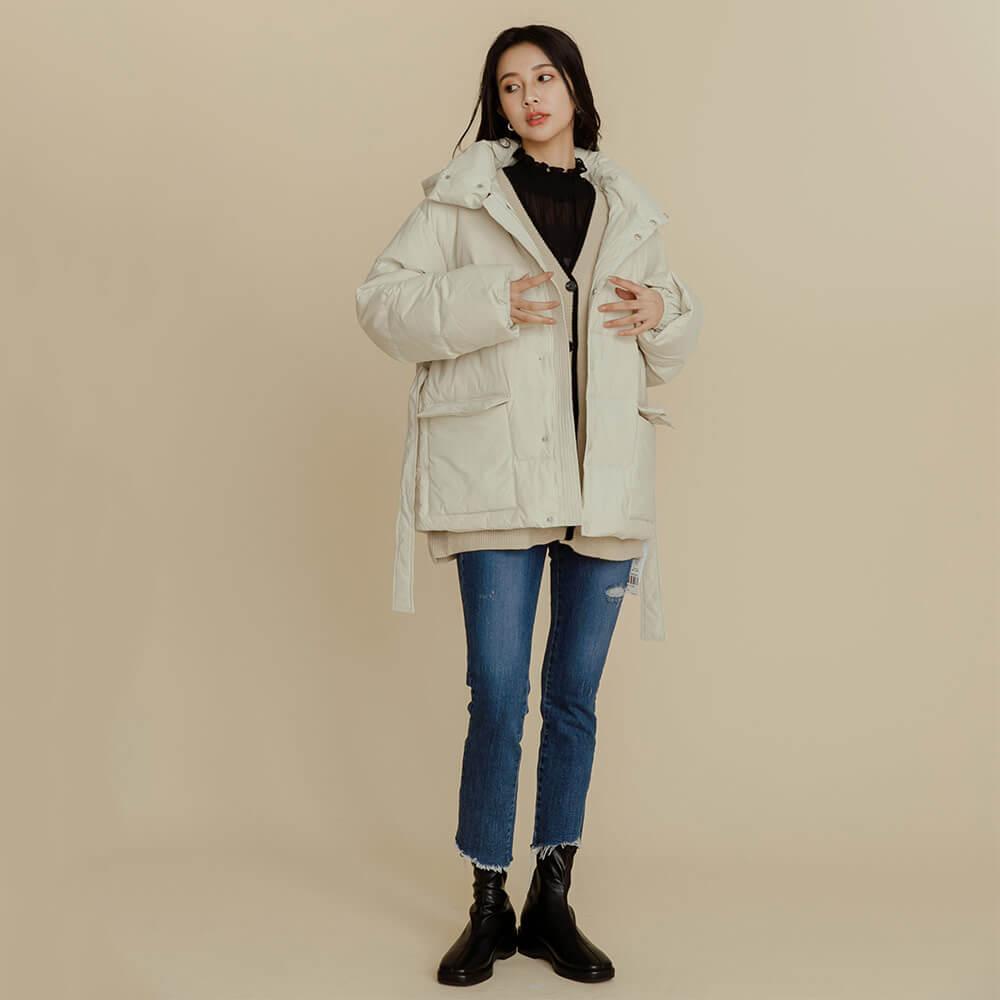 韓系穿搭羽絨外套