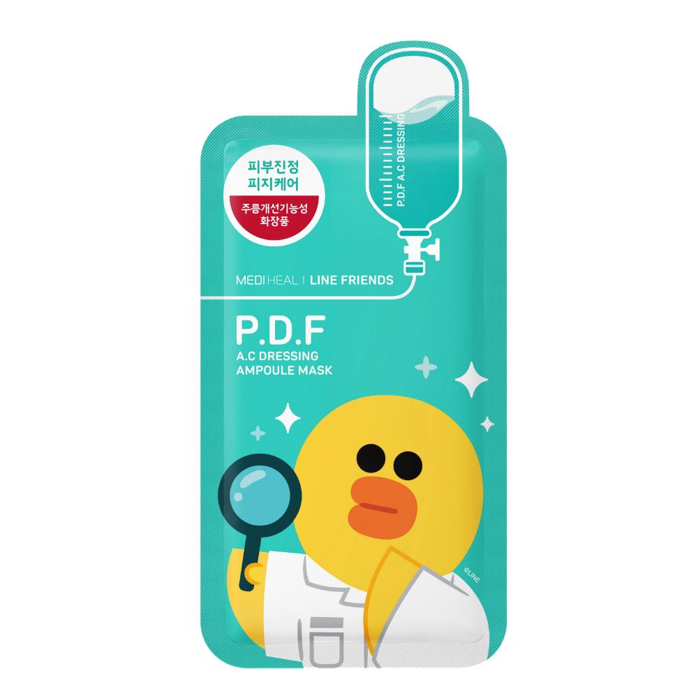 韓國面膜推薦,MEDIHEAL X LINE FRIENDS  P.D.F莎莉高效舒敏淨膚保濕導入面膜