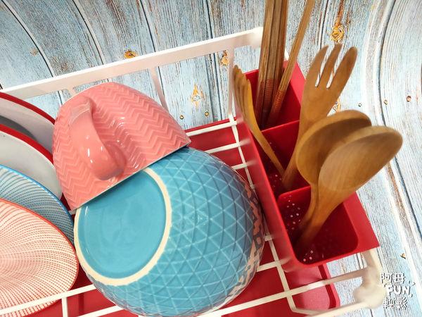 AQUA分拆式瀝水架(紅) 山崎生活美學 Yamazaki 廚房收納 瀝水架 易清洗 可拆式 通風快乾 附餐具收納盒