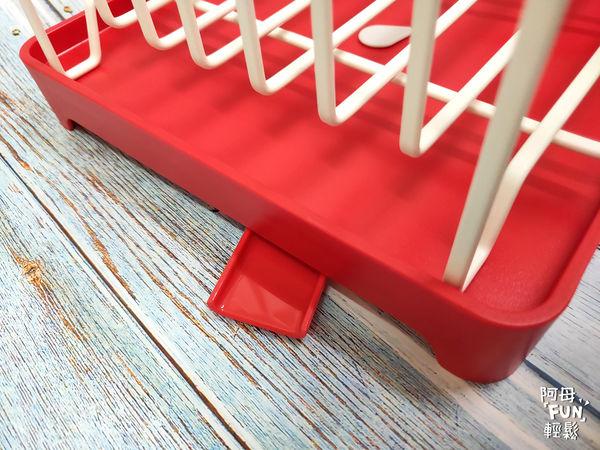AQUA分拆式瀝水架(紅) 山崎生活美學 Yamazaki 廚房收納 排水槽可自由調整方向 瀝水架 易清洗 可拆式 通風快乾