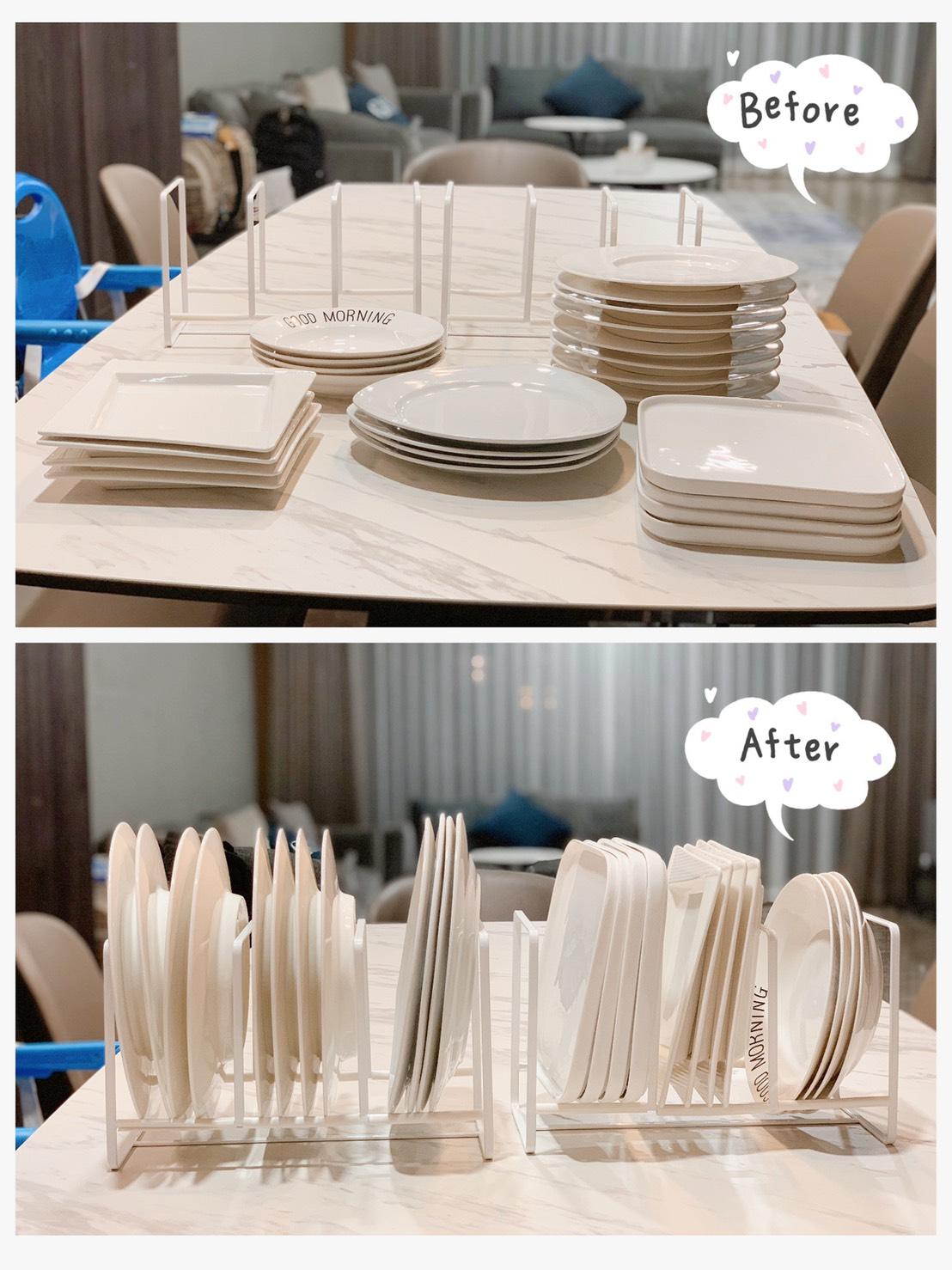 tower三格日系框型盤架S(白) 山崎收納 Yamazaki 廚房收納 盤架