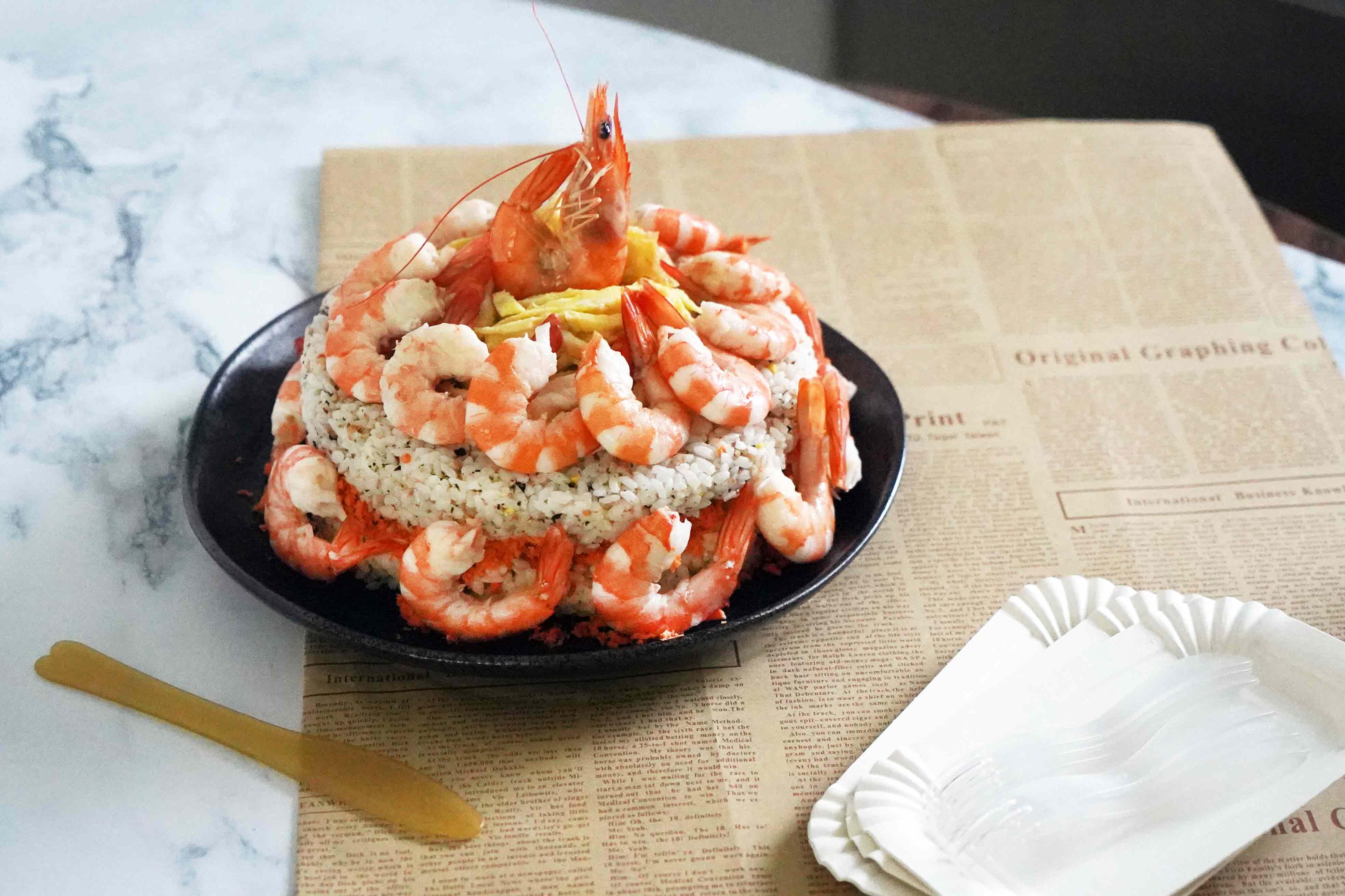 【超浮誇】爸爸節就用蝦蝦壽司蛋糕幫拔拔慶祝一下