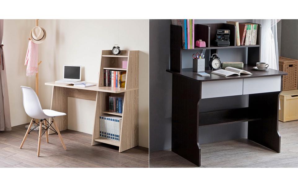 TZUMii桑田造型層架式超值雙抽層架式書桌