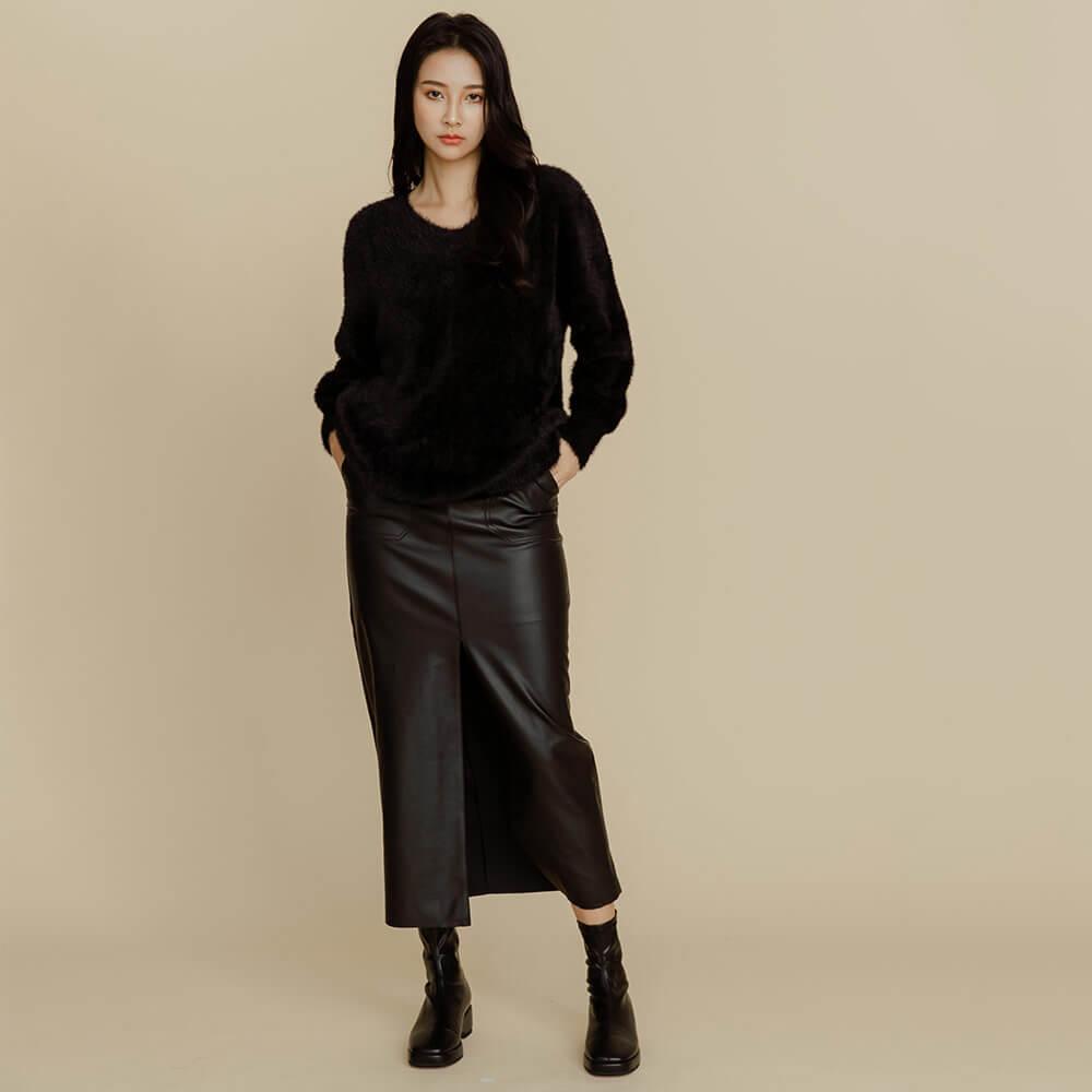 長窄裙有修飾腿型的功能