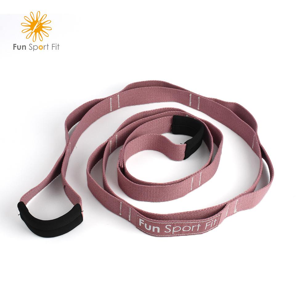 立肌靈-環節式拉筋繩/瑜珈伸展繩/拉筋帶/助展帶/stretch strap(1入)FunSport(環節式助展帶)