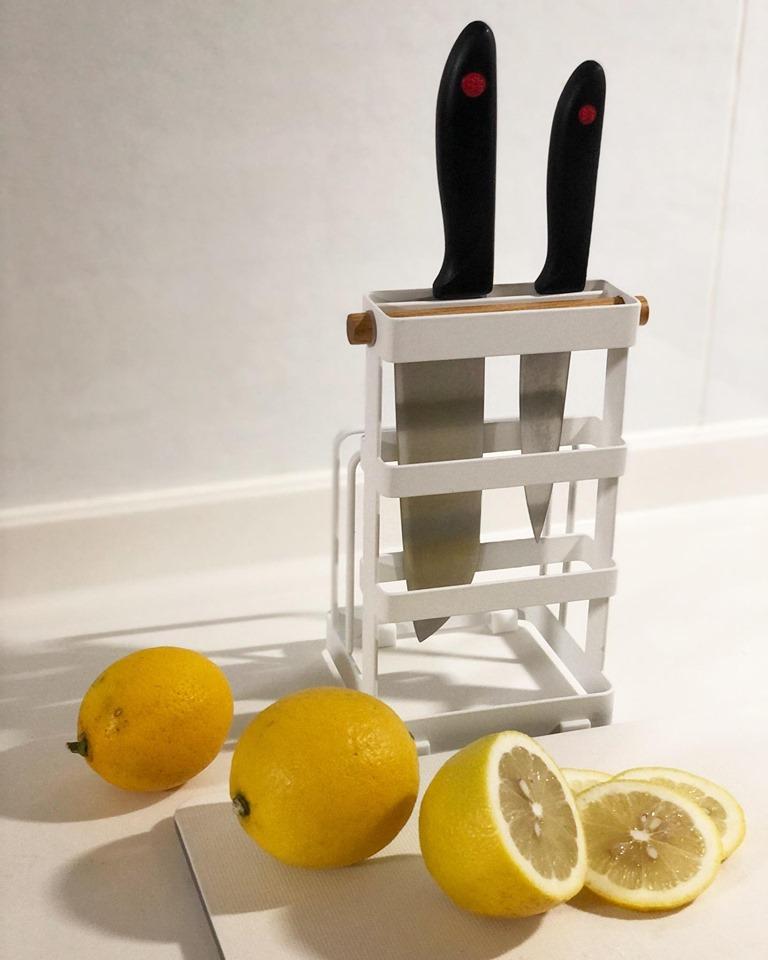 tosca刀具砧板架,白色簡約造型
