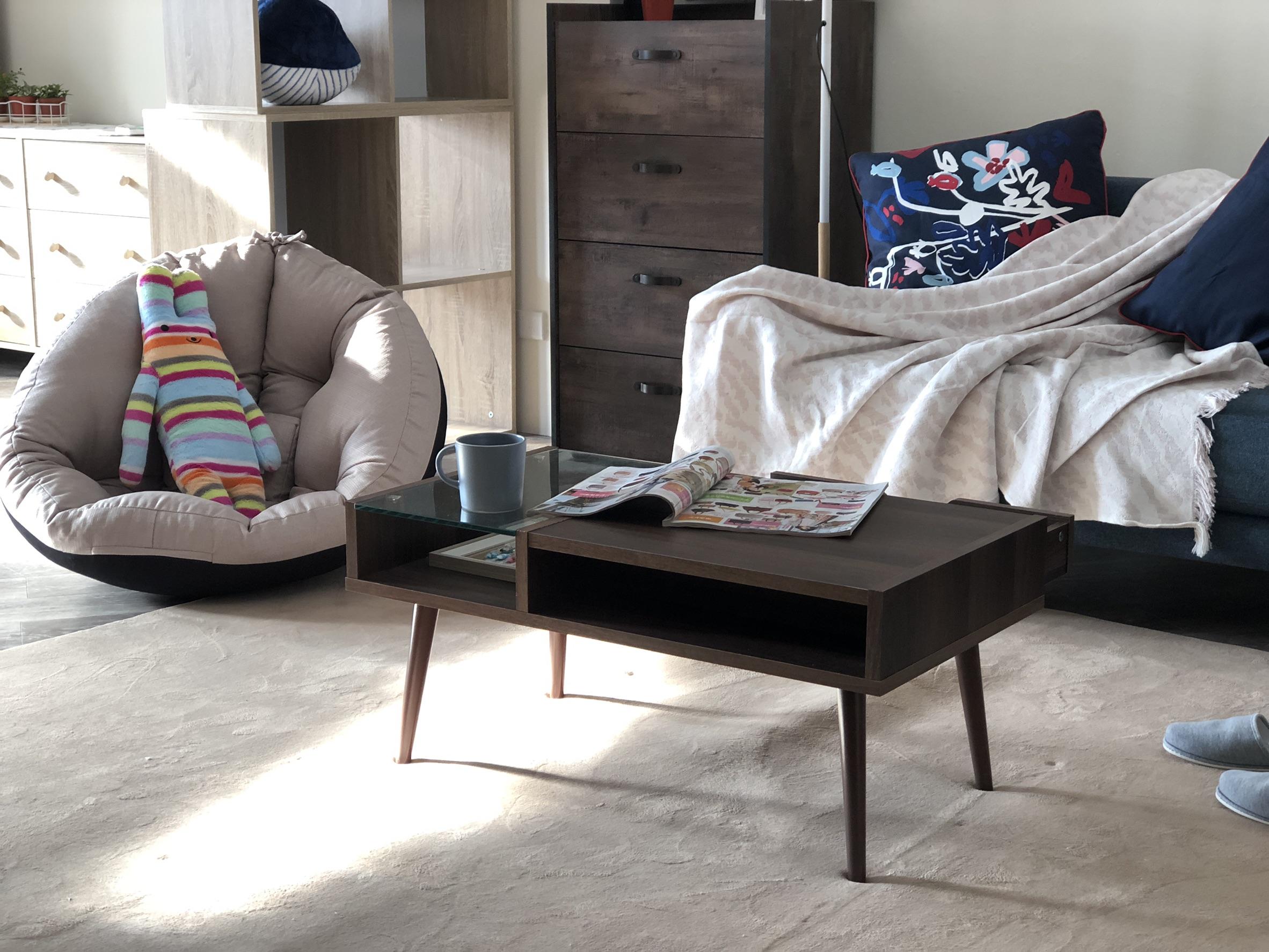 內斂優雅的客廳,卻又不失生活中的Chill感。