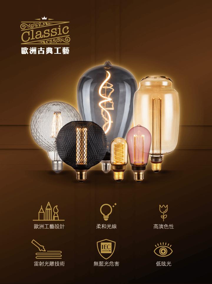 SYLSTAR 喜光LED的Mirage幻影燈呈現復古鎢絲燈泡的美感