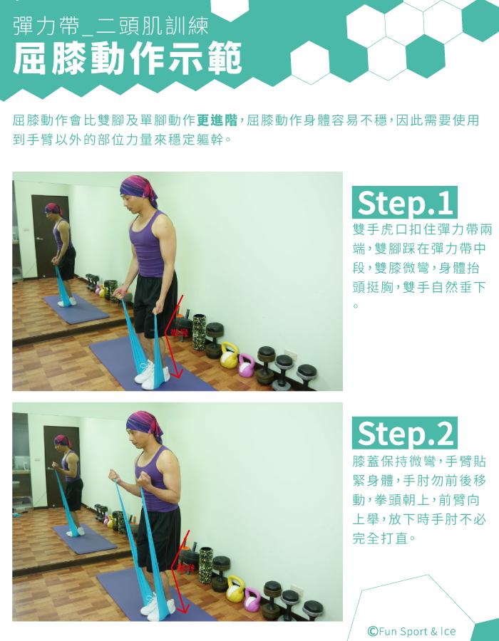 彈力帶訓練 - 二頭肌(Biceps)訓練-FUNSPORT