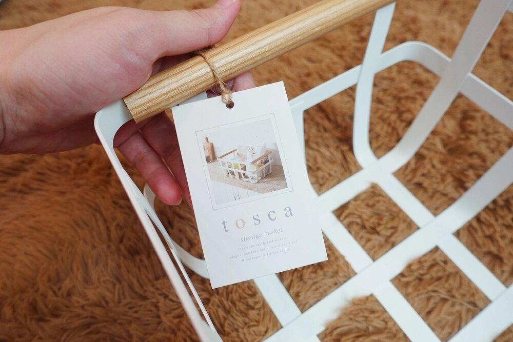 tosca雙邊手提收納籃 山崎生活美學 Yamazaki 收納 零食區 北歐風 籃子 原木