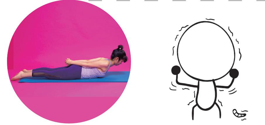 趴著做美背瑜珈,女生喜歡的蝗蟲式瑜珈 (瑜珈墊上玩瑜珈)