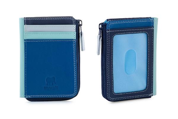【mywalit】拉鍊雙槽卡夾小包-牛仔藍334-130
