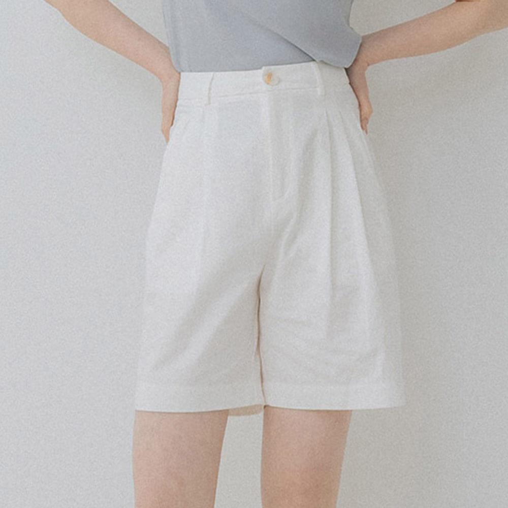 白色高腰顯瘦短褲