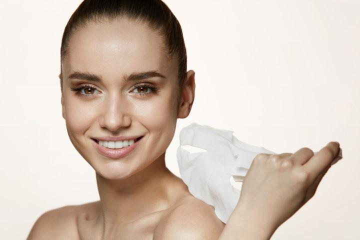 面膜使用後皮膚水潤示意圖