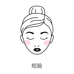 短臉腮紅位置