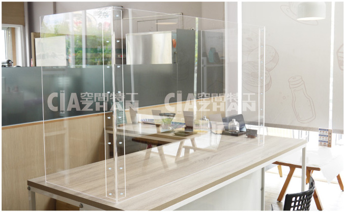 辦公室隔板 櫃檯隔板 餐廳隔板 防疫隔板規格尺寸如何選擇?