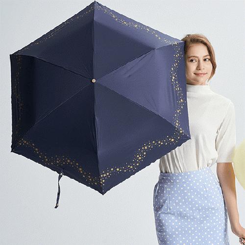 閃耀星星手開輕量傘