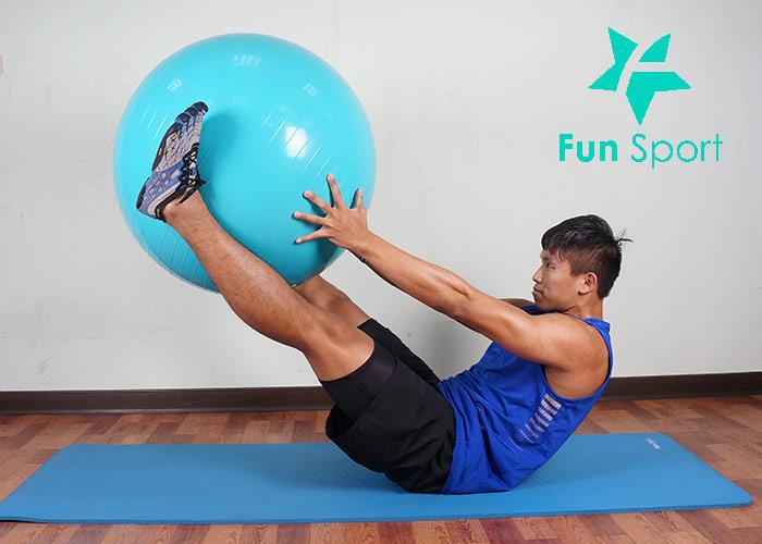抗力球-腹肌運動-1:V字起坐