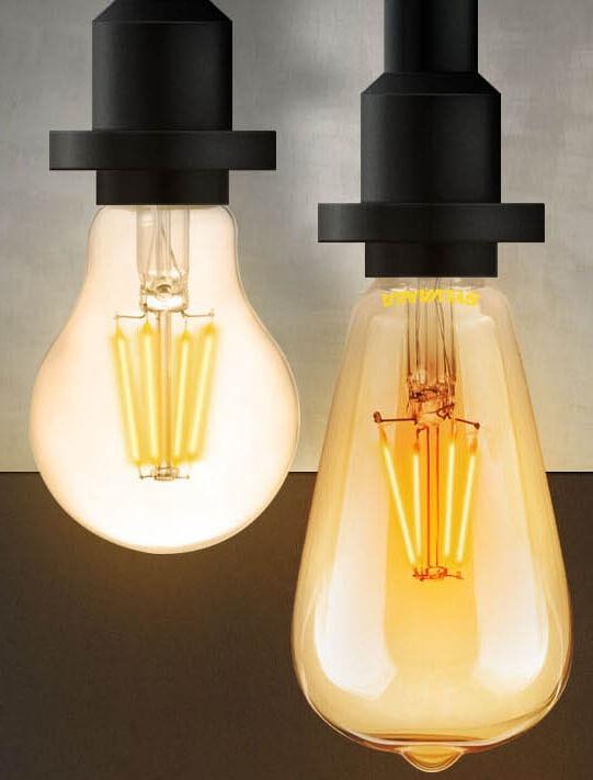 LED復古仿鎢絲燈泡的效果