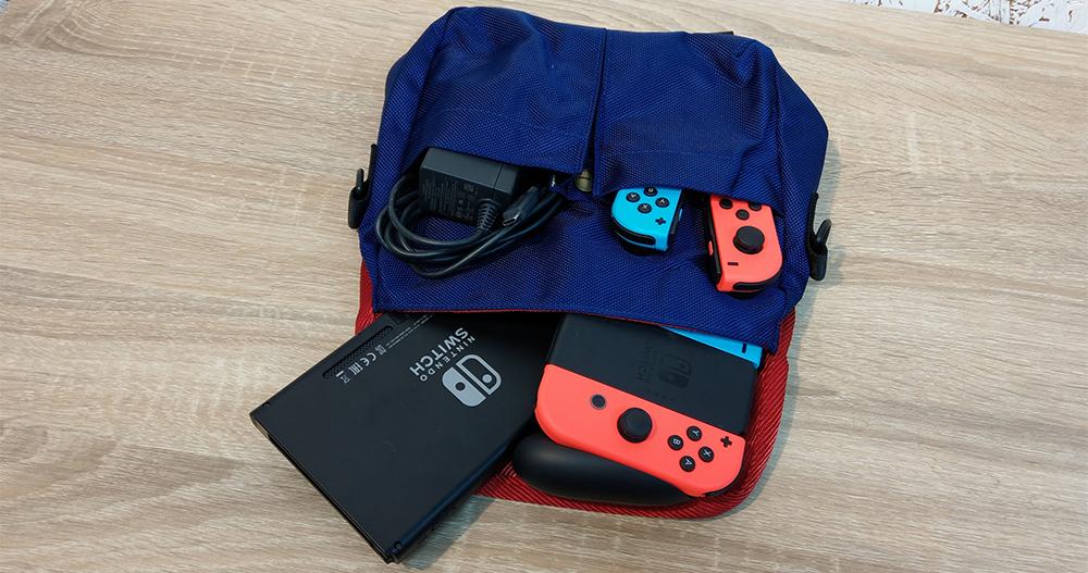 側背小包可以放進Switch
