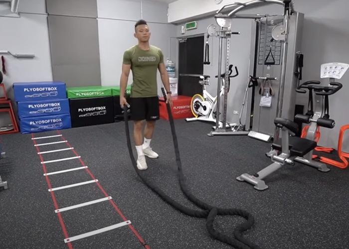 戰繩訓練技能包 16種甩法練全身