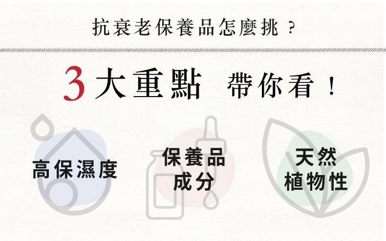 抗衰老保養品挑選3重點-抗衰老保養品推薦