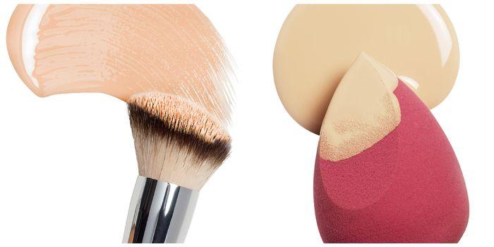 油肌粉底液上妝工具