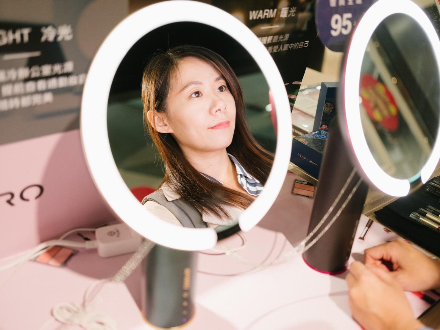 amiro化妝鏡擁有均勻亮度