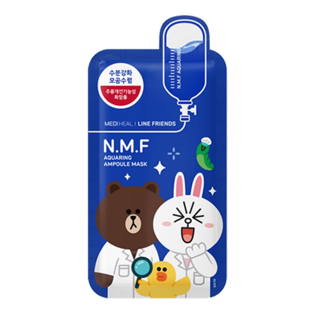 韓國面膜推薦,MEDIHEAL X LINE FRIENDS N.M.F 親古高效特強保濕導入面膜
