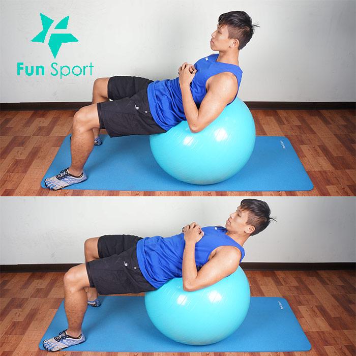 抗力球-腹肌運動-7:捲腹