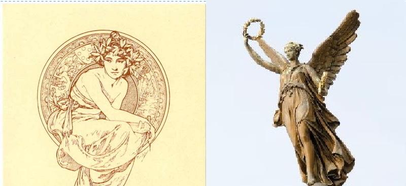 花環與女神的形象密不可分