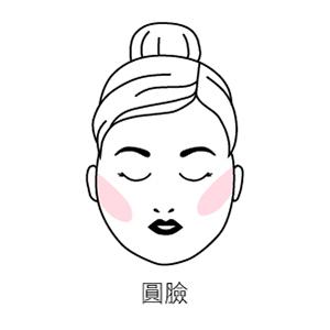 圓臉腮紅畫法