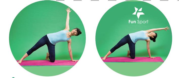 側平台+側平台扭轉!會瘦腹部的瑜珈動作(瑜珈墊上玩瑜珈)