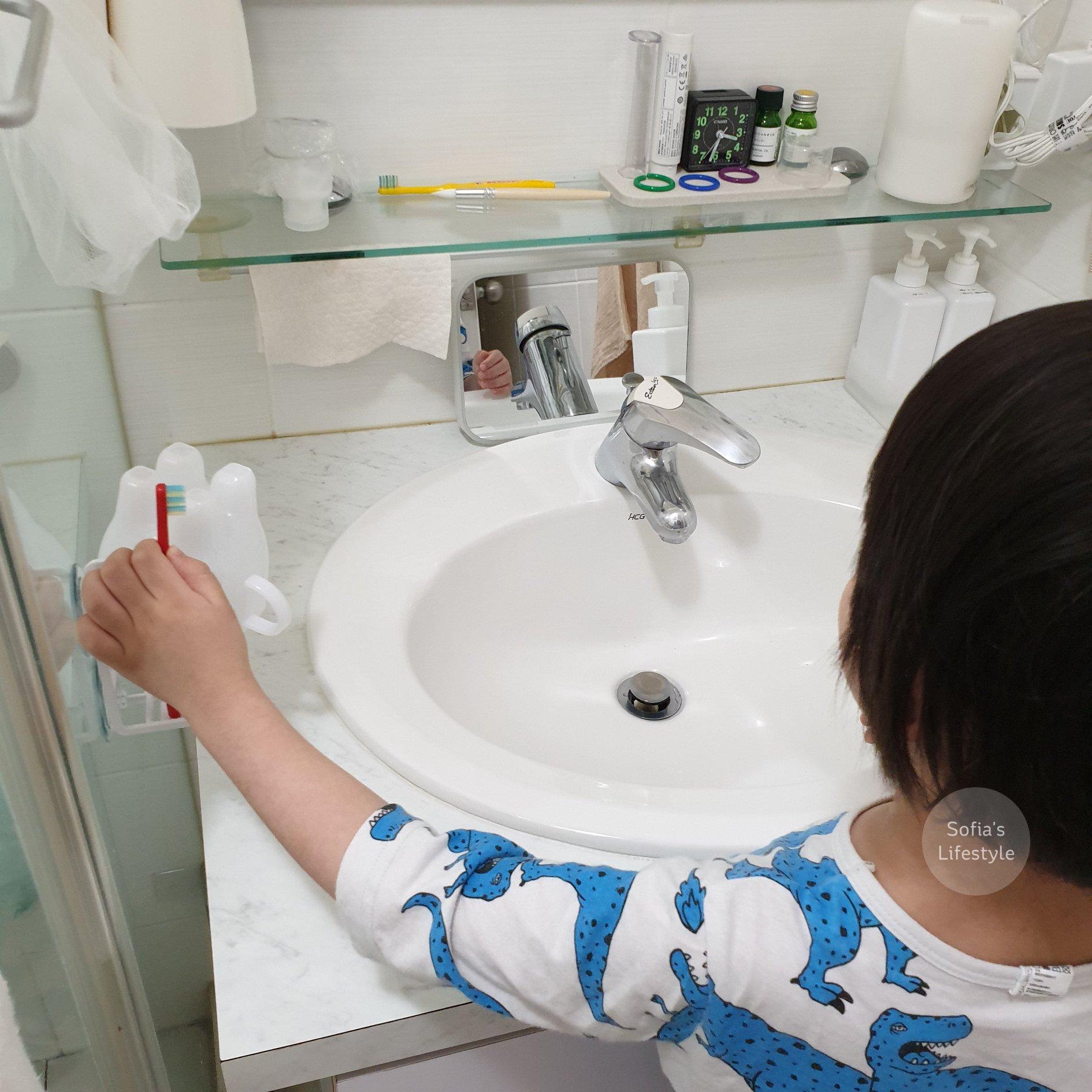 Yamazaki 山崎收納 MIST吸盤式牙刷兩用杯架